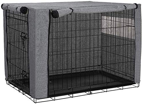 Hundekäfigabdeckung, Hundekaefig Abdeckung, Hundebox Abdeckung, langlebig, Winddicht, Abdeckung für Hundehütten, Hunde-Zubehör, für den Innen- und Außenbereich