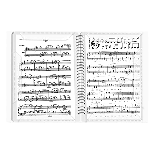 FISEYU Cartella di spartiti Riduce la riflessione della luce Cartella di file per fogli di musica lunga durata per pianista