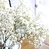 CoURTerzsl Künstliche Blumen, 1 Stück, Gipskraut, Kunststoff, künstliche Blume, romantische Hochzeitsfeier, Heimdekoration – Weiß