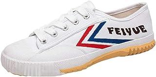 Martial Arts Schoenen, Baan Trainers Schoenen Kinderen Volwassenen Tai-Chi Shoes Unisex Schoenen Non-Slip,White,34