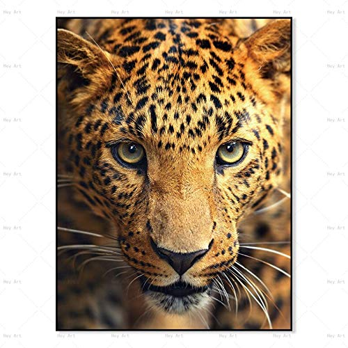 N / A Art animal posters and prints tiger art frameless wall canvas painting living room home frameless decorative painting A98 60x90cm