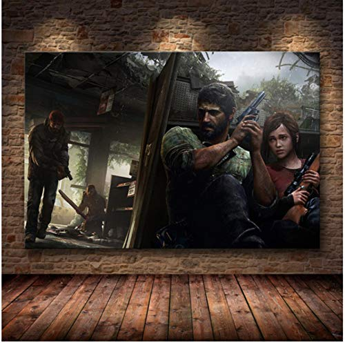 Liuheng Póster del Juego The Last of Us Print Zombie Survival Horror Action HD Poster Canvas Painting Modern Home Decor For Wall Art 50x70cm Q-107