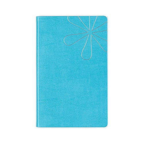 Erin Condren Designer Softbound Notebook - Features a Shimmer Turquoise Colored Cover and a Dot Grid Page Layflat Layout. Great for Organizing Bullet Point Journaling Lists