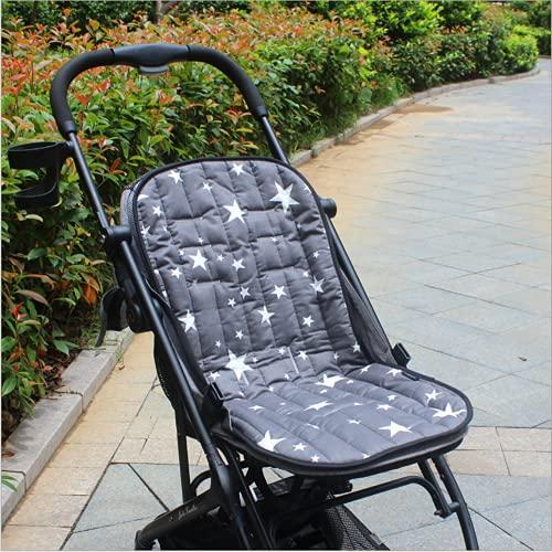 Cojín de cochecito universal, cojín de asiento infantil, colchón, cambiador de algodón transpirable, suave, funda portátil, cojín reductor, soporte para silla alta, cochecito