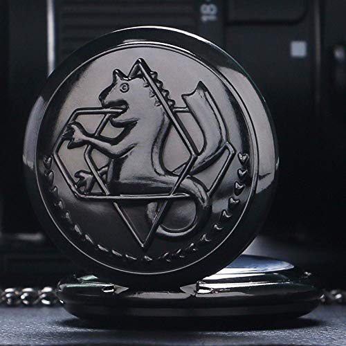 HBDML Telefon-Kasten Telefon-KastenVintage Fullmetal Alchemist Quartz Pocket Watch Necklace Fashion Men Women Watches Clock Anime Boys Girls Children Gifts Watch-Bronze