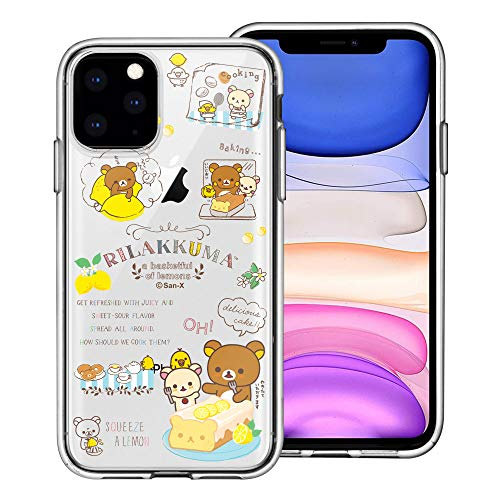 Compatible with iPhone 12 Pro/iPhone 12 Case (6.1inch) Rilakkuma Clear TPU Cute Soft Jelly Cover - Rilakkuma Cooking