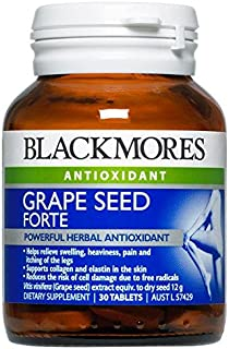 Blackmores Grape Seed Forte 12000mg 30 Tablets Powerful Grape Seed Extract Herbal Supplements, Benefit to the Vascular System and Connective Tissues with 1PCS Chinese Knot Gift