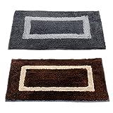 Story@Home Handicraft Style Eco Series 2 Piece Cotton Blend Door Mat Set