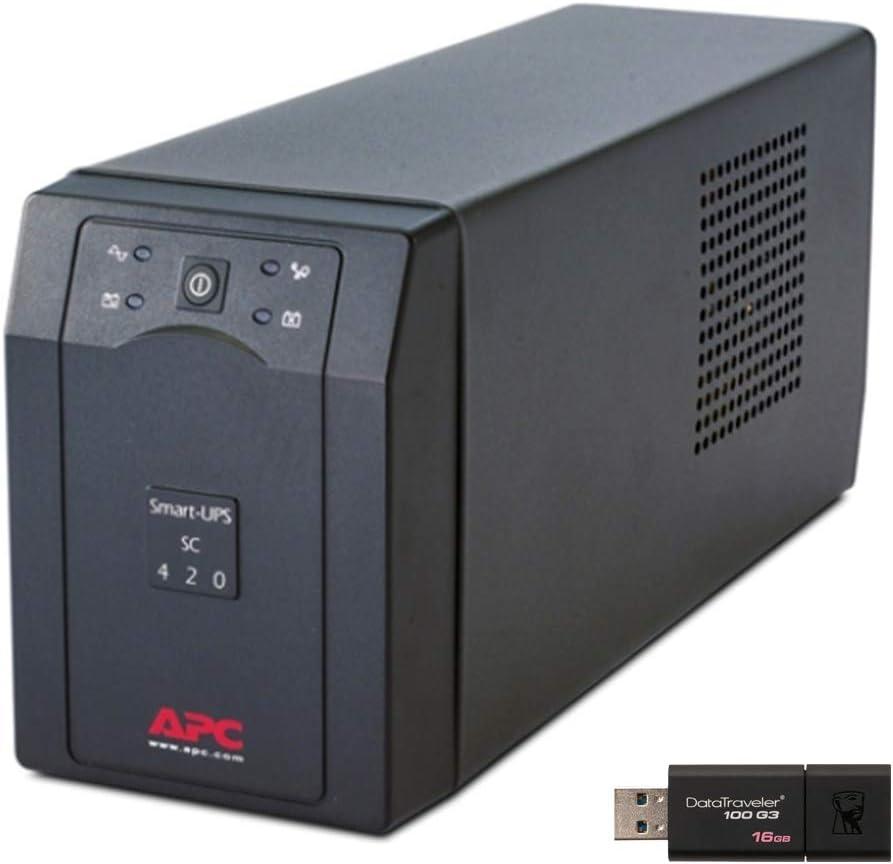 APC Smart-UPS SC420 Tower UPS Bundle with 16GB DataTraveler USB Drive