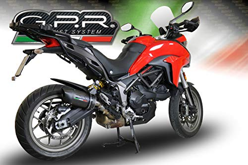 Homologierte auspuff mit verbindungsrohr GPR Furore Evo4 Carbon Kompatibel mit Ducati Multistrada 950 2017/20 e4