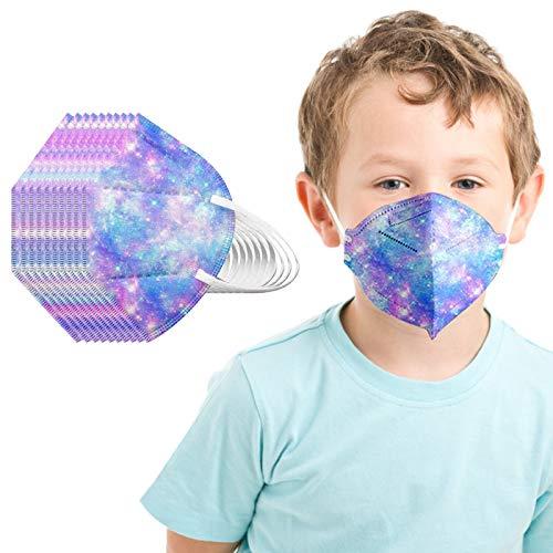 Kinder_5 Lagige Schutz_????_Maske_???? - 3D Mund und Nasenschutz, Staubdicht Mund-Nasen Bedeckung Atmungsaktiv Stoff (A, 50)