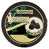 Valda Caramelle per La Gola, Pastiglie Gommose Balsamiche, al Gusto Liquirizia, con Granelli di Zucchero, Profumano L'Alito, 50 G