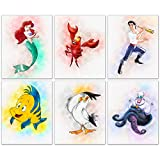 The Little Mermaid Prints - Set of 6 Wall Art Decor (8...