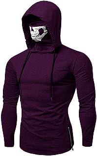 9e759a6d443b Mens Hoodie Stylish Mask Skull Design Solid Drawstring Sweatshirt Coat by  Balakie