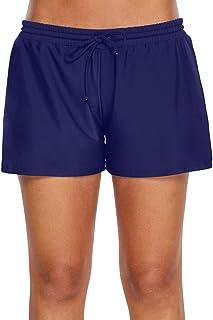 Lau's Shorts de baño para Mujer - Bañadores Pantalon Corto de Playa - Pantalones de baño con cordón