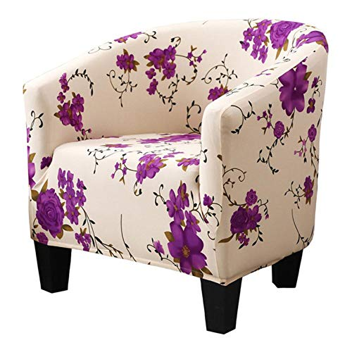LLAAIT Bathtub Armchair Seat Cover Spandex Elastic Stretch Bath Tub Chair Covers Printed Leisure Arm Sofa Protector Washable Slipcover