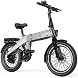 G-Force Electric Bike, 20 inch Folding Electric Bike 500W Shimano 7 Speeds Lithium Battery,with Pedals, Power Assis (Dark Gray)