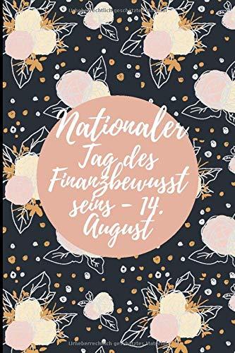 Nationaler Tag des Finanzbewusst seins - 14. August: Organizer Planer Logbuch, Einfache Monatliche Rechnung Zahlungen Checkliste, Planung Budget ... Finanz, großes Geschenk für Männer und Frauen