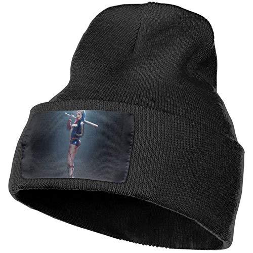 kasual Har_Ley Q_uinn Strickmütze Kappe Dick Multifunktionale Unisex Hüte Outdoor Herbst und Winter Warme Manschette Beanie Caps Schwarz