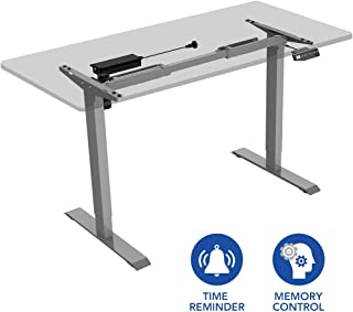 Flexispot EN1S Height Adjustable Desk Frame Electric Sit Stand Desk Base Home Office Stand up Desk(Grey Frame)
