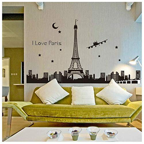 Removable Wall Sticker Clearance Sale, Libermall Luminous Vinyl Paris Eiffel Tower Wall Sticker Glow in The Dark Home Decor Wall Mural Decal Stickers, Best for Family Room Art Decoration Wallpaper