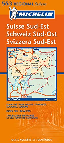 Suisse Sud-Est Schweiz Sud-Ost Svizzera Sud-Est: Regional Map