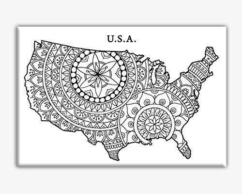 USA Max 56% OFF map coloring quality assurance for canvas adults