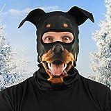 Beardo  Original HD - Pasamontañas para esquí, protección contra el frío, protección Facial, pasamontañas (Rottweiler, Rotti)