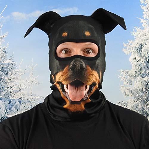 Beardo ® Original Sturmhaube HD | Skimaske, Kälteschutz, Gesichtsschutz, Sturmmaske (Rottweiler, Rotti)