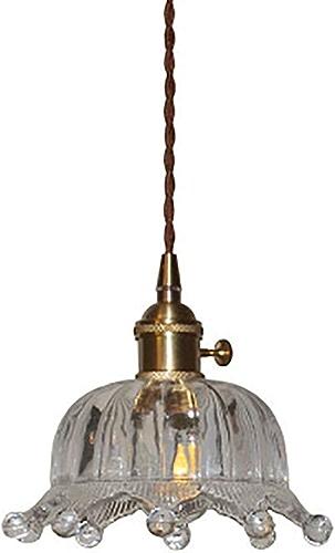 WBHD E27 Lustre,Moderne et Charhommet Suspendus Creative Couronne Lampe Design Abat-Jour en Verre Suspendue élégant Suspendus Enfants Chambre Chevet Salon Balcon étude Mignon 1 Tête