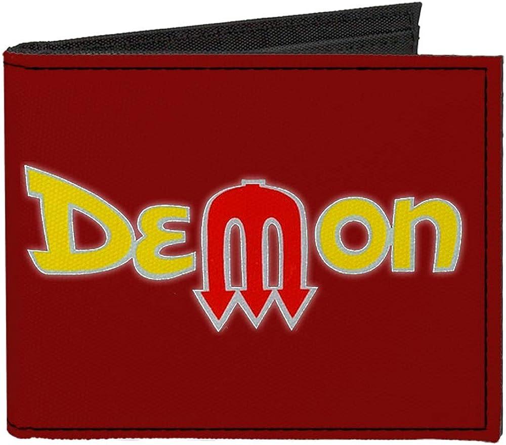 Max 60% OFF Buckle-Down Men's Standard Canvas Bifold 4.0 Wallet-Dodge wholesale Demon