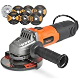 """VonHaus 125mm 900W (5"""") Angle Grinder with 7 Disc Accessory Kit – Compatible"""