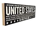 Oath of Enlistment. Hand-Crafted in Tennessee, This Custom Wood Block Sign Measures 4X12 Inches. an Authentic, American Made Gift for Family or Friend.