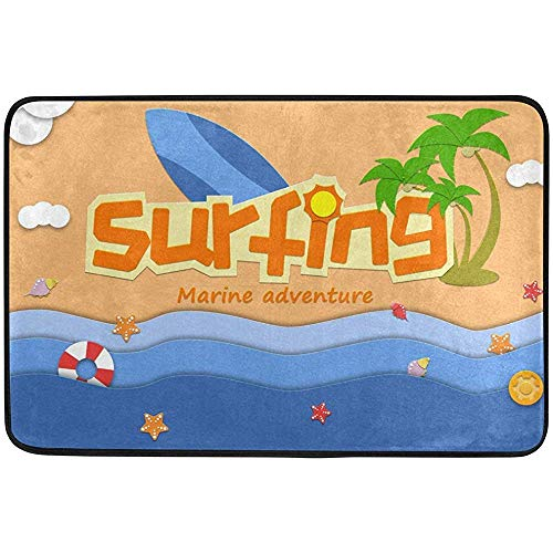 ASDAH Surfing Bath Mat Antislip traagschuim deurmat badkamer tapijt voor binnen en buiten