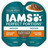 IAMS PERFECT PORTIONS Adult Indoor Cat Grain Free Wet Cat Food Cuts in Gravy Chicken Recipe, (24)...
