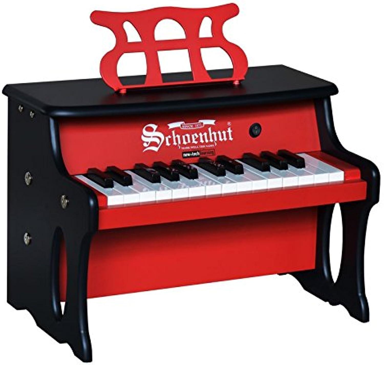 Schoenhut 25 Key Two Toned rot schwarz Digital Table Top
