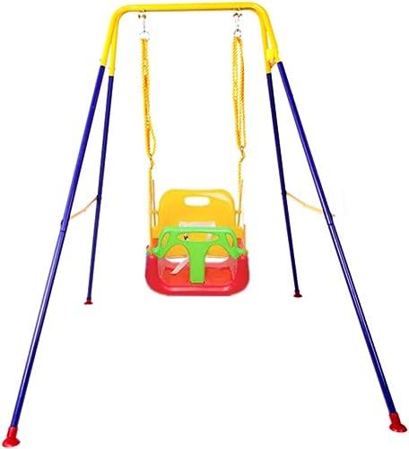 Innenschwingen-, Haushalts-Multifunktionsgarten-Baby-Seats im Freien nimmt Vergnügungspark-Spielplatz-Falten-Klammer-Schwingen auf (Farbe   C, Größe   110  160  155CM)