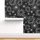 Spoonflower Non-Pasted Wallpaper, Fireworks Sparklers Celebration Star Burst Modern Contemporary Print, 24in x 27ft Roll