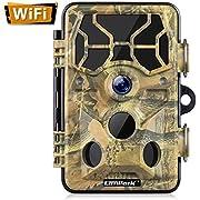 Campark Wildlife Cámara WiFi 20MP 1296P Trail Game Camera con visión nocturna activada por movimiento para explorar cámara de caza, vigilancia de vida silvestre al aire libre, impermeable IP66