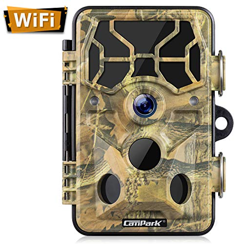 Campark Trail Camera-WiFi 20MP 1296P Hunting Game Camera with Night Vision Motion Activated for...