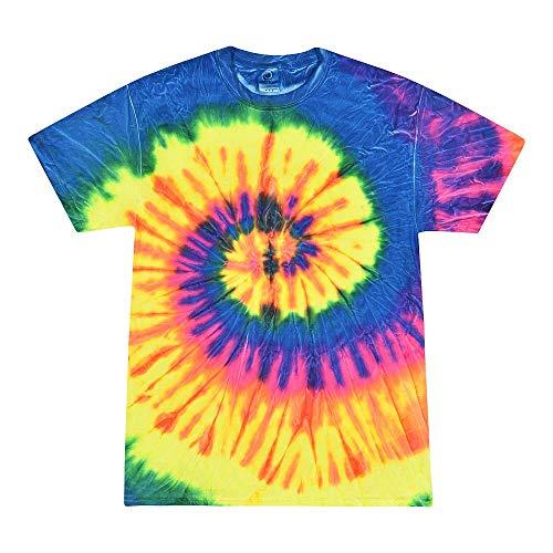 Colortone Tie Dye T-Shirt XL Neon Rainbow