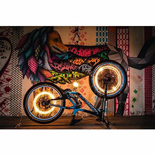 Calle retro extracto pared animal graffiti decorativo cartel fresco coche llanta montaña bicicleta club colgando pintura pintura al aire libre arte mural ( Color : Jk867 , Size : 40x60cm No Frame )