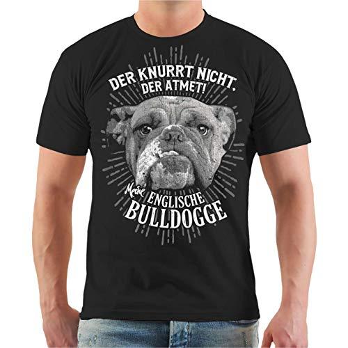 Männer T-Shirt Englische Bulldogge Der knurrt Nicht der atmet Größe S - 8XL