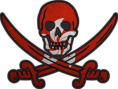 Akachafactory Sticker Aufkleber Pirat Piraten Jack Rackham Calico Flagge Fahne HK Hong Kong r1