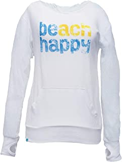 Beach Happy Pullover Hoodie Made from Recycled Plastic Bottles (Unisex)