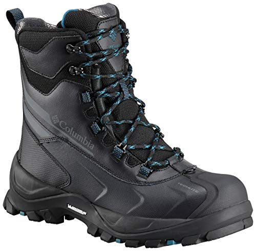 Columbia Men's Bugaboot Plus IV Omni-Heat Mid Calf Boot, Black, Phoenix Blue, 8