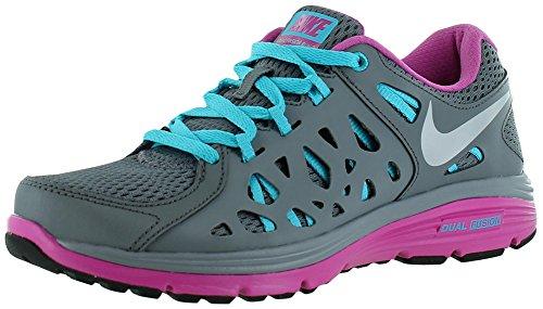 Nike Dual Fusion Run 2 Grey/Blue/Pink Ladies Running Shoes