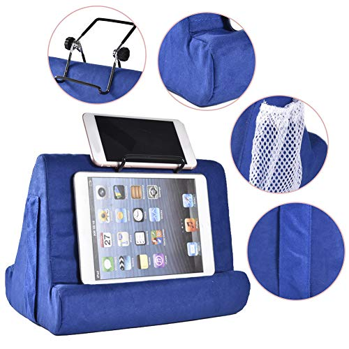 Tablet Stand Pillow, Book Couch Pillow Stand, Tablet Wedge Holder, Multi-Angle zacht kussen multi lap kussen stand, Draagbare Driehoek Tablet Stand voor Tablets, eReaders, Smartphones, Boeken