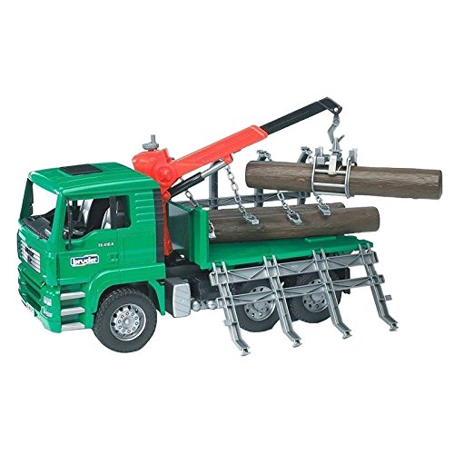 Bruder 02769 TOYS MAN Holztransport LKW mit Ladekran