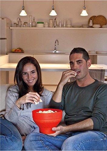 Product Image 8: Lekue Microwave Popcorn Popper/ Popcorn Maker, Red
